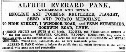 1896 Jan 11 Alfred Everard Pank @ No 70