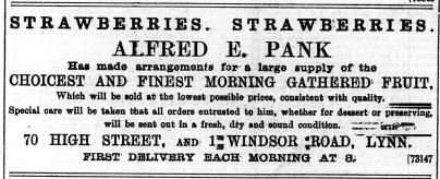 1896 July 11 Alfred E Pank @ No 70
