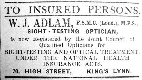 1928 Jan 27th W J Adlam