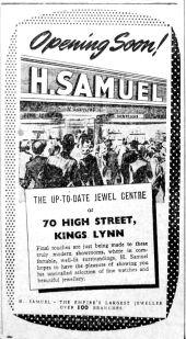 1953 Nov 27th H Samuels opening