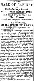1849 June 23rd Crowsons stock sale