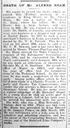 1914 April 24th Obit Alfred Ream