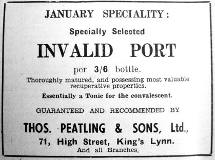 1938 Jan 28th Thos Peatling Invalid Port