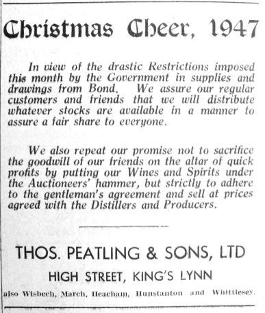 1947 Nov 18th Peatlings