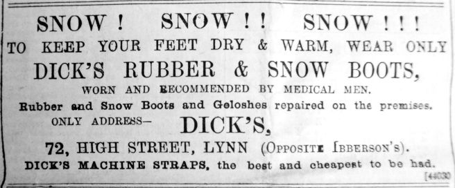 1891 Jan 17th Dicks