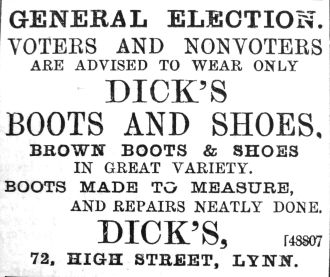 1892 July 30th Dicks General Election