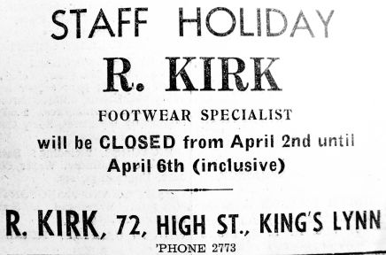 1945 Mar 30th R Kirk