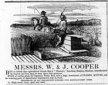 1852 April 17th W & J Cooper @ No 75
