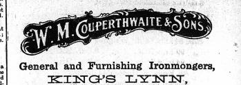 1923 Dec 14th WM Couperthwaite & Sons heading