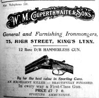 1925 Aug 28th Couperthwaite guns