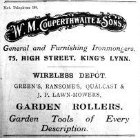 1925 Feb 13th W M Couperthwaite & Sons