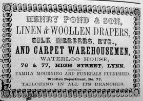 1856 Directory Henry Pond & Son (Lynn Forums)