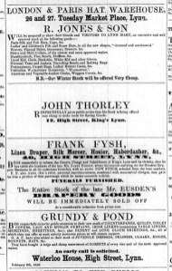 1859 Feb 12th Grundy & Pond @ Nos 76 & 77