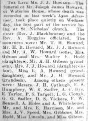 1928 Apr 13th funeral J J Howard
