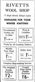 1963 Jan 4th Rivetts Wool Shop @ No 77