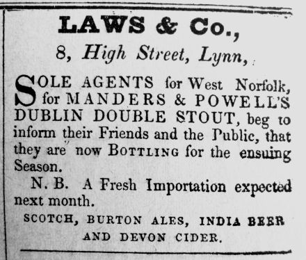 1841 ad from 1940 Feb 28th newspaper Laws & Co