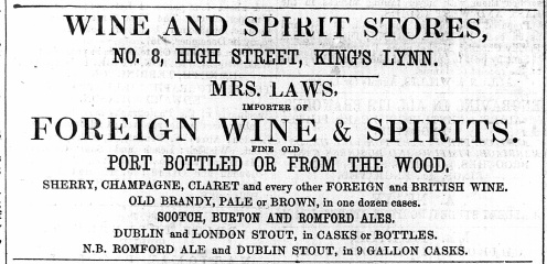 1867 June 8th Mrs LAWS @ No 8