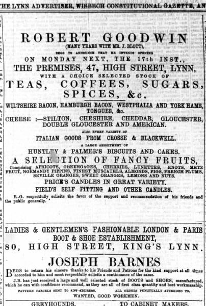 1873 Feb 15th Joseph Barnes @ No 80