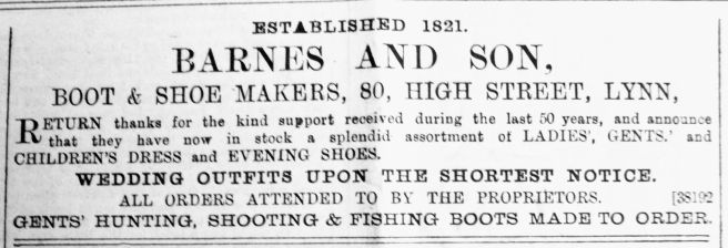 1889 Dec 21st Barnes & Son