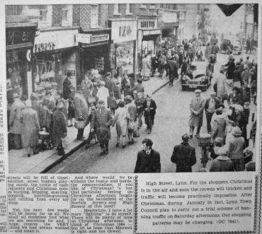 1964 Nov 27th High Street closure plan Purdys @ No 80