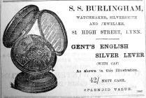 1902 Nov 14th S S Burlingham watch
