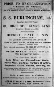1938 May 6th Burlingham buys Empsons stock