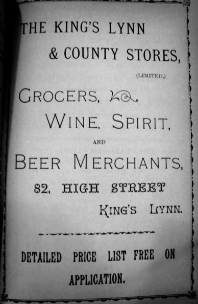 1904 Sconces Almanack KL & County Stores