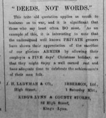 1918 Dec 27th Deeds not Words