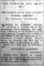1925 Feb 27th KL & County Stores (voluntary liquidation)