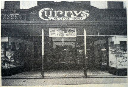 1963 May 14th Currys old shopfront