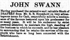 1877 April 14th John Swann & R B Household