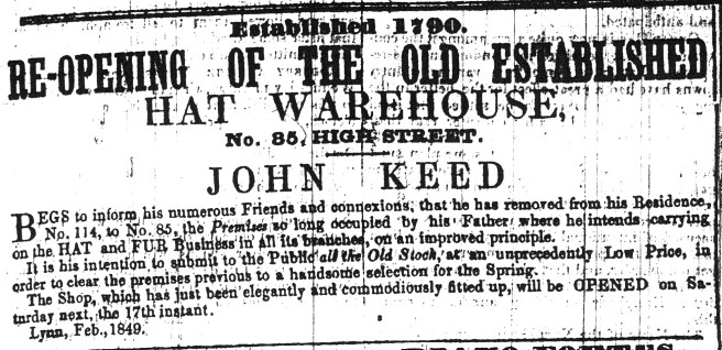 1849 Feb 17th John Keed
