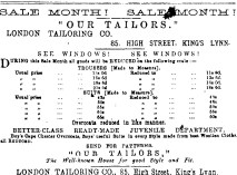 1886 Jan 2nd Our Tailors 85