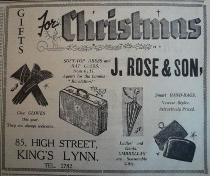 1937 Dec 10th J Rose & Son