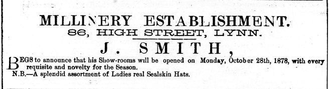 1878 Oct 26th J Smith