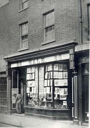 1865 Gales shop @ No 88 with Henry Targett outside (Michael Winton Kings Lynn As It Was)