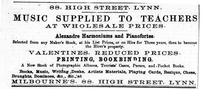1870 19th Feb Milbourne