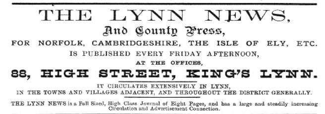 1883 Lynn News directory