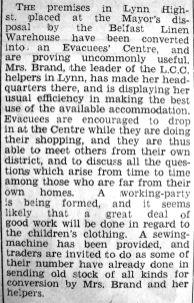 1940 Nov 29th Evacuees Centre opens
