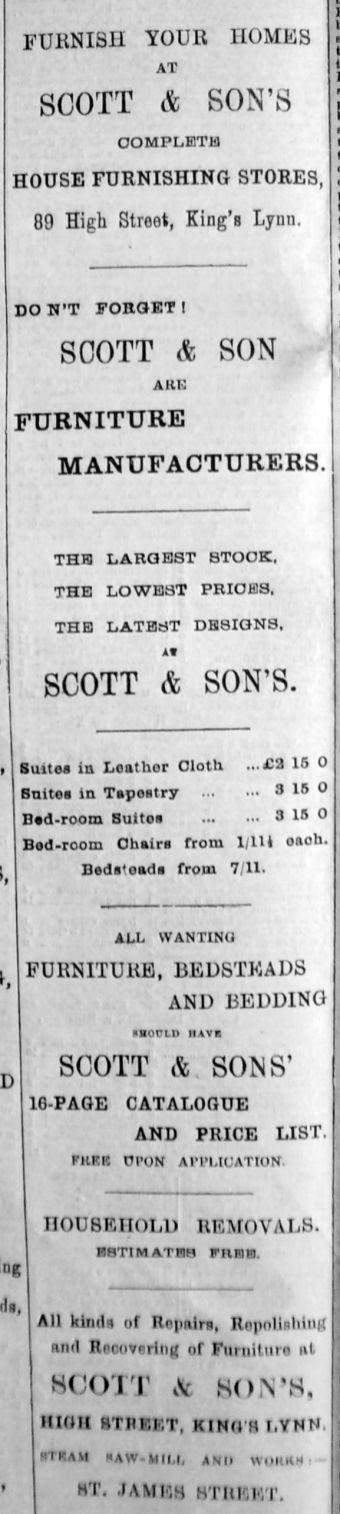 1894 Sept 1st Scott & Son