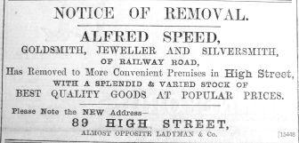 1904 Nov 11th Alfred Speed