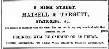1897 Dec 31st Matsell & Target @ No 9