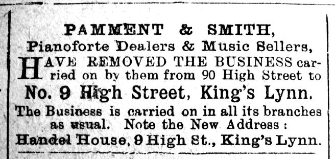 1910 Dec 30th Pamment & Smith Move in