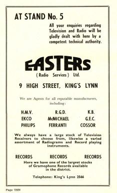 1955 Aug 24-31 Trades Exhibiton prog Easters
