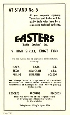 1955 Aug 24-31 Trades Exhibiton prog Easters