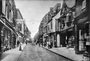 1908 High Street Scotts music shop at No 42 (right)