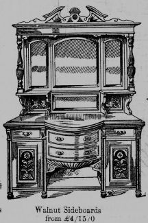 1915 Scotts catalogue (P9 walnut sideboard)