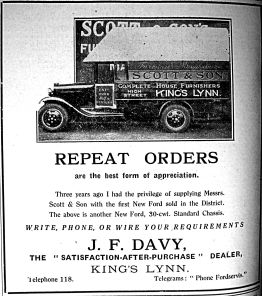 1931 May 29th J F Davy Scotts vans