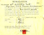 1907, 5th Sept Sale No 92 memorandum rotated