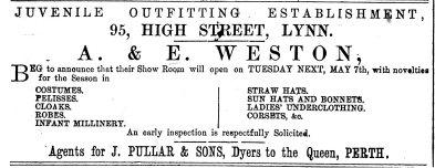 1878 4th May A & E Weston186